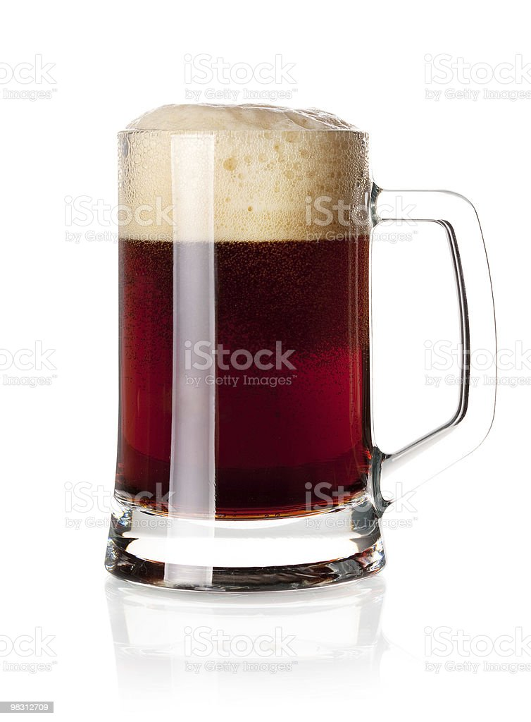 Dark beer in glass royalty-free stock photo