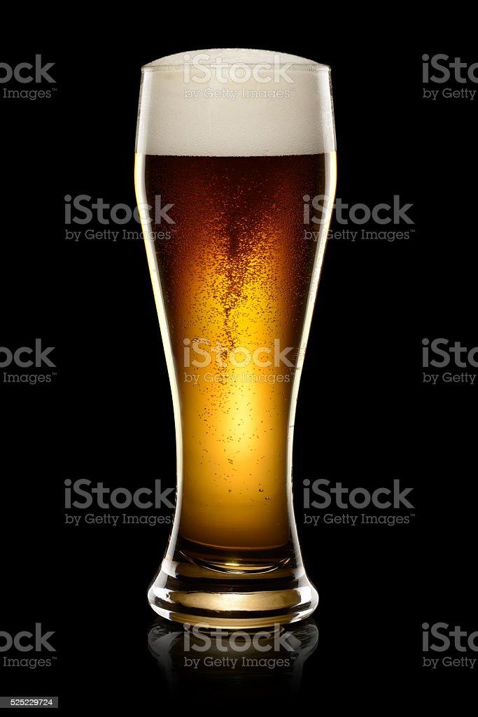 Dark beer on black stock photo