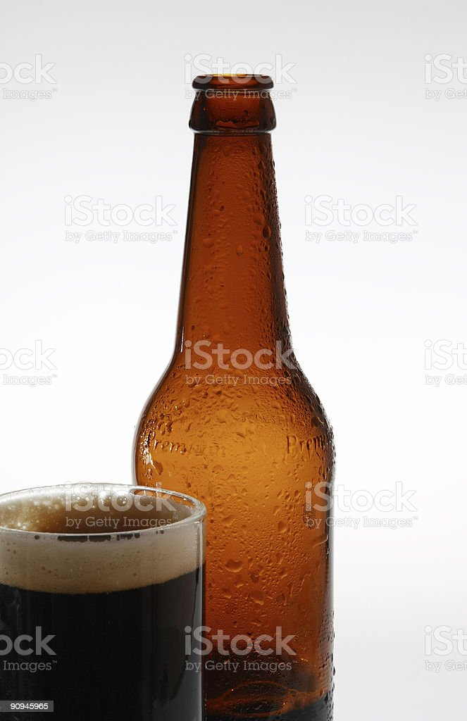 Dark beer (2). royalty-free stock photo