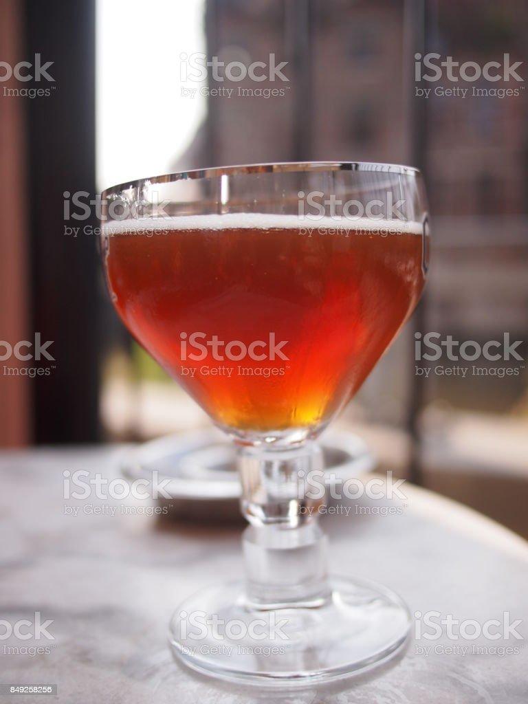 Dark Belgian Beer stock photo