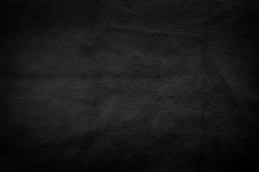 Dark black leather texture background