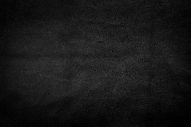 dark black leather texture background - couro imagens e fotografias de stock
