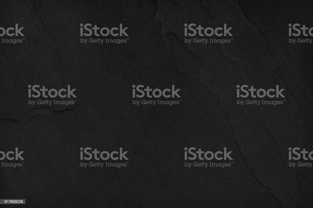 Dark black slate stone background blank for design stock photo
