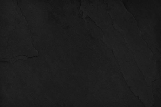 Dark black slate stone background blank for design stock photo