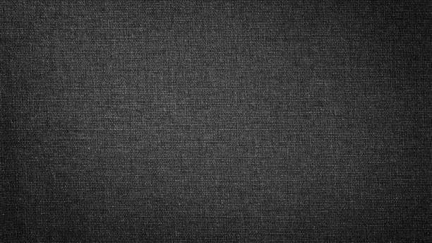 dunkle schwarze weiße leinwand. das hintergrundbild, textur. - textilien stock-fotos und bilder