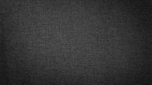 dark black white linen canvas. the background image, texture. - full frame stock pictures, royalty-free photos & images