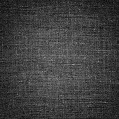 istock Dark black white linen canvas. The background image, texture. 1096047720