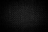 istock Dark black white linen canvas. The background image, texture. 1137820946