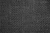 istock Dark black white linen canvas. The background image, texture. 1137821004