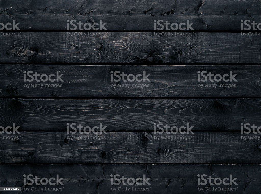 Dark black wood texture background stock photo
