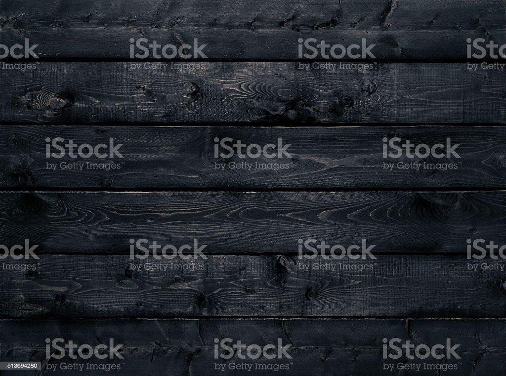 Fondo negro oscuro textura de madera - foto de stock