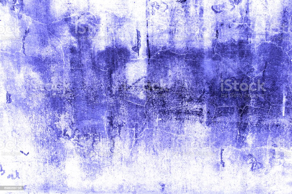Dark blue abstract grain background created from picture of dirty damage wall surface. stock photo