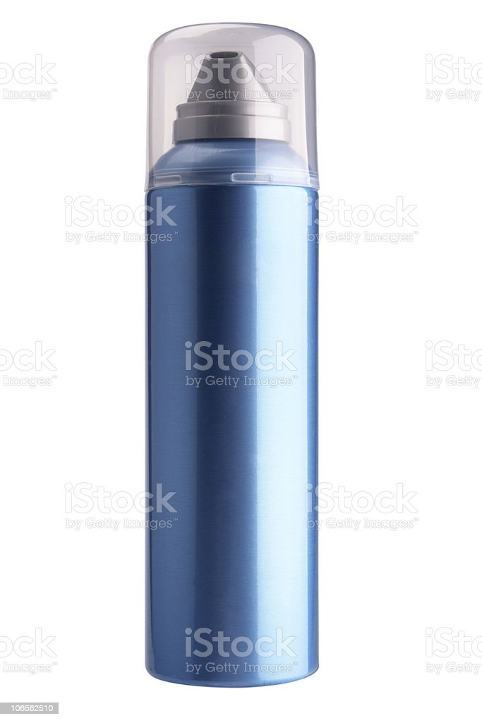 Dark blue aerosol royalty-free stock photo