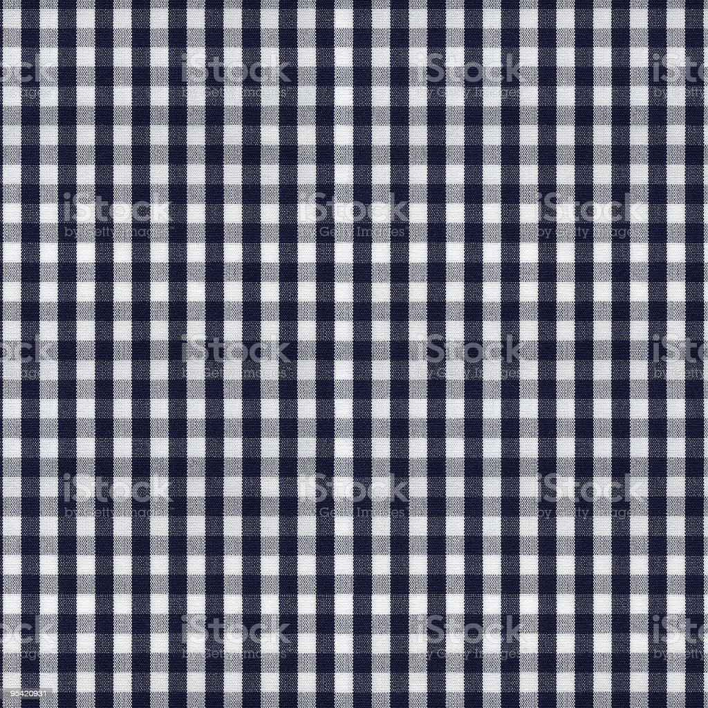 Dark Blue and White Gingham Tablecloth Pattern stock photo