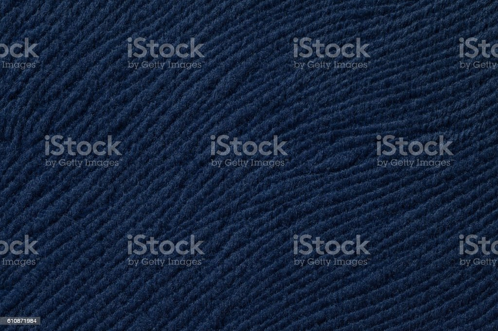 Dark blue background from soft textile material. stock photo