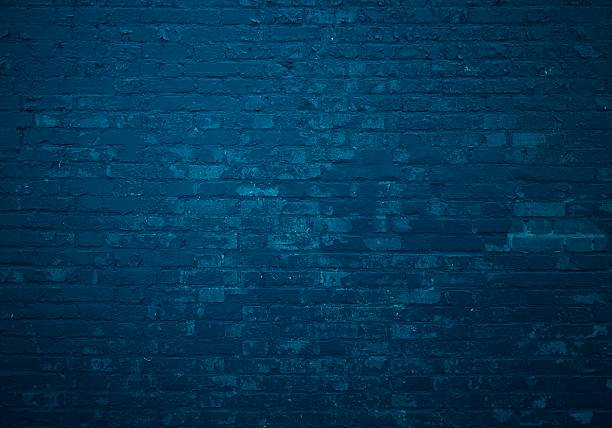 dark blue brick wall as background - dark blue stock pictures, royalty-free photos & images