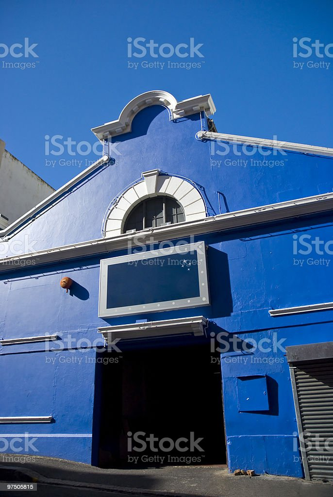 Dark blue building royalty-free stock photo