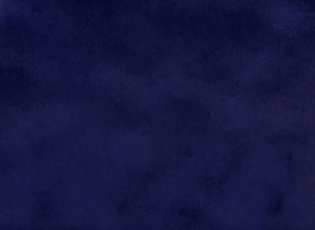 Dark blue color fabric texture background stock photo