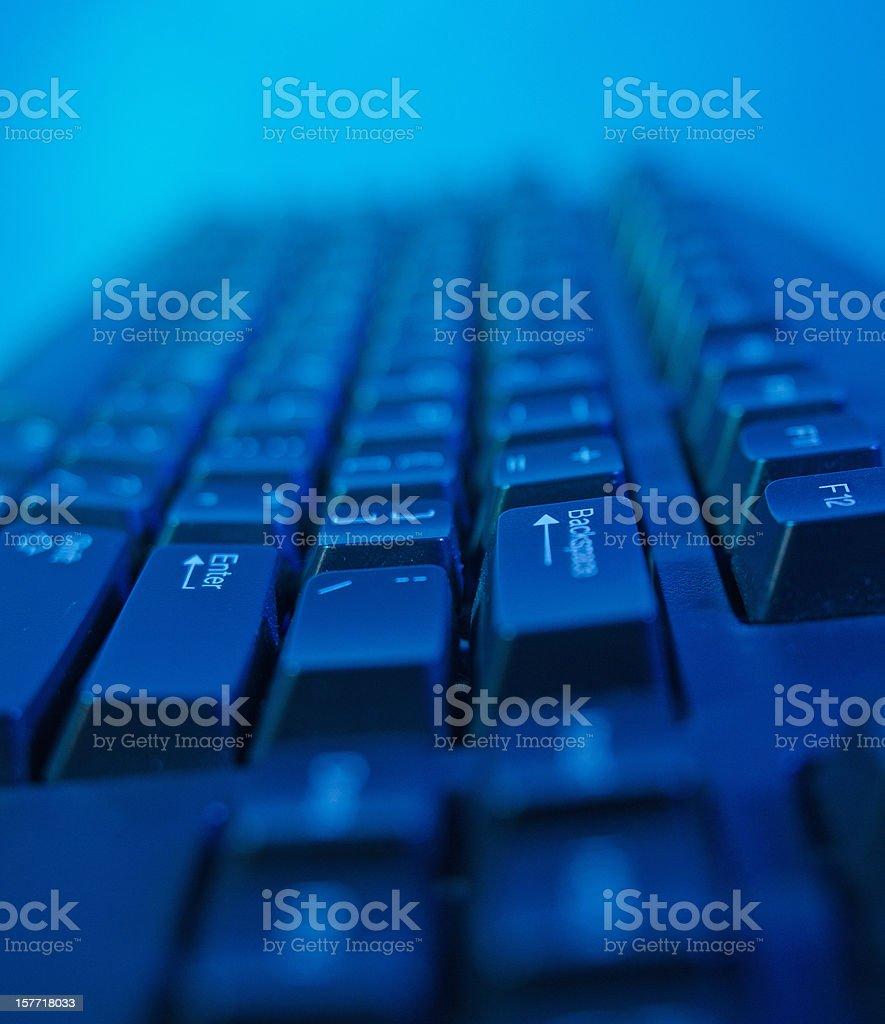 Dark Blue Computer Keyboard royalty-free stock photo