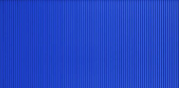 dark blue corrugated metal wall texture - alu zaun stock-fotos und bilder