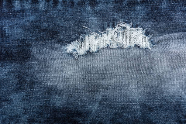 Dark blue Denim texture background stock photo