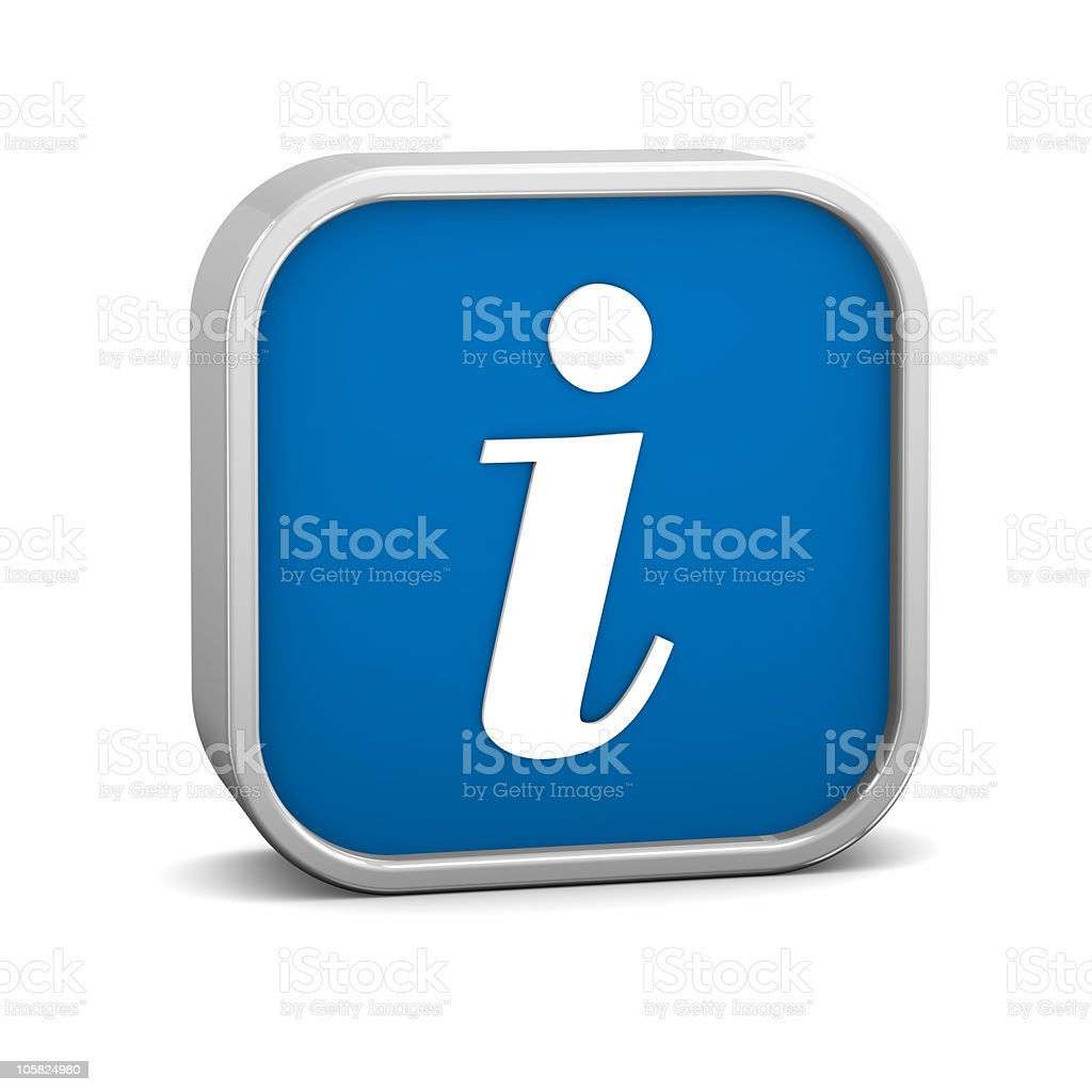 Dark Blue Info Sign royalty-free stock photo