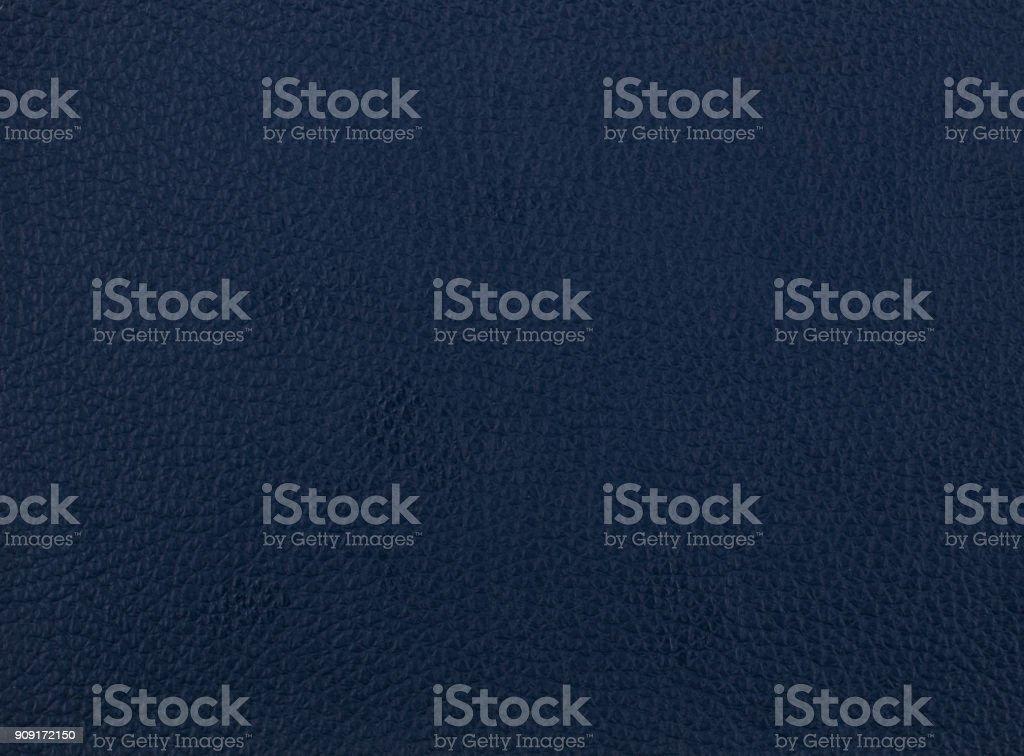 Dark blue leather sample stock photo