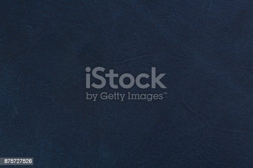 istock Dark blue leather, vintage style texture 875727526