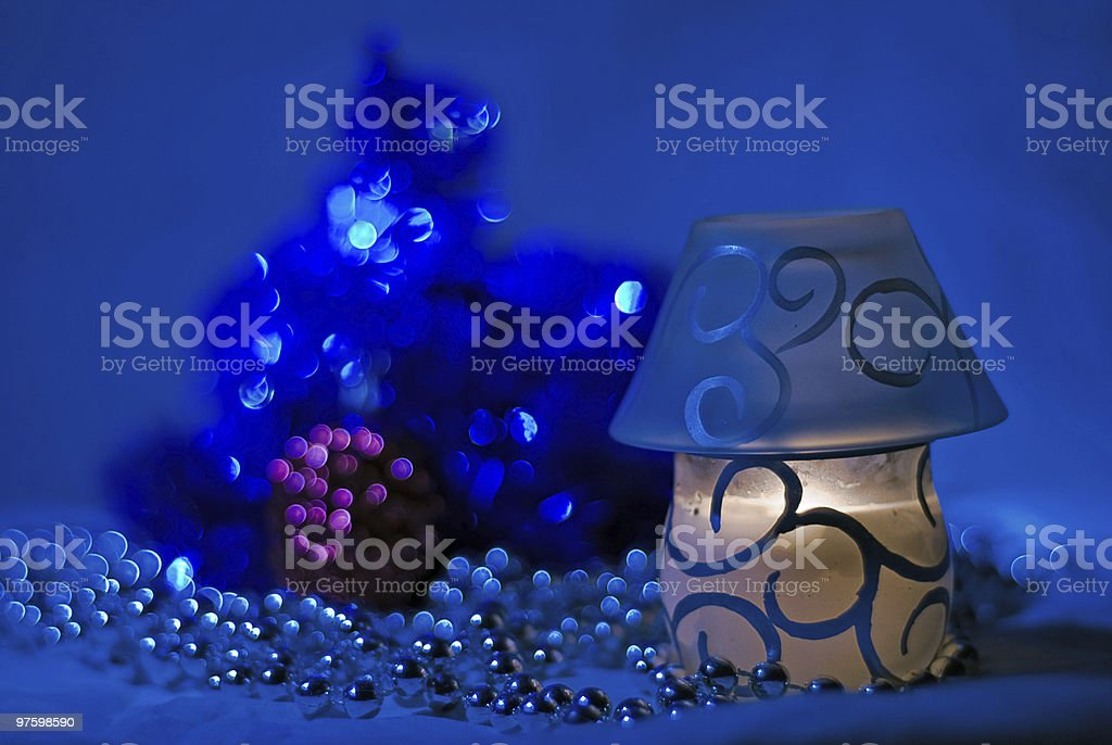 Dark blue night royalty-free stock photo