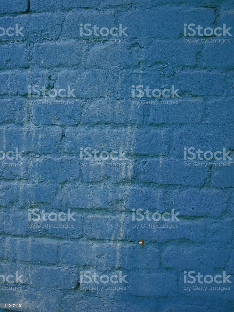 dark blue old brick wall for background royalty-free stock photo