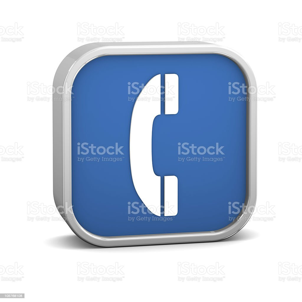 Dark Blue Phone Sign royalty-free stock photo