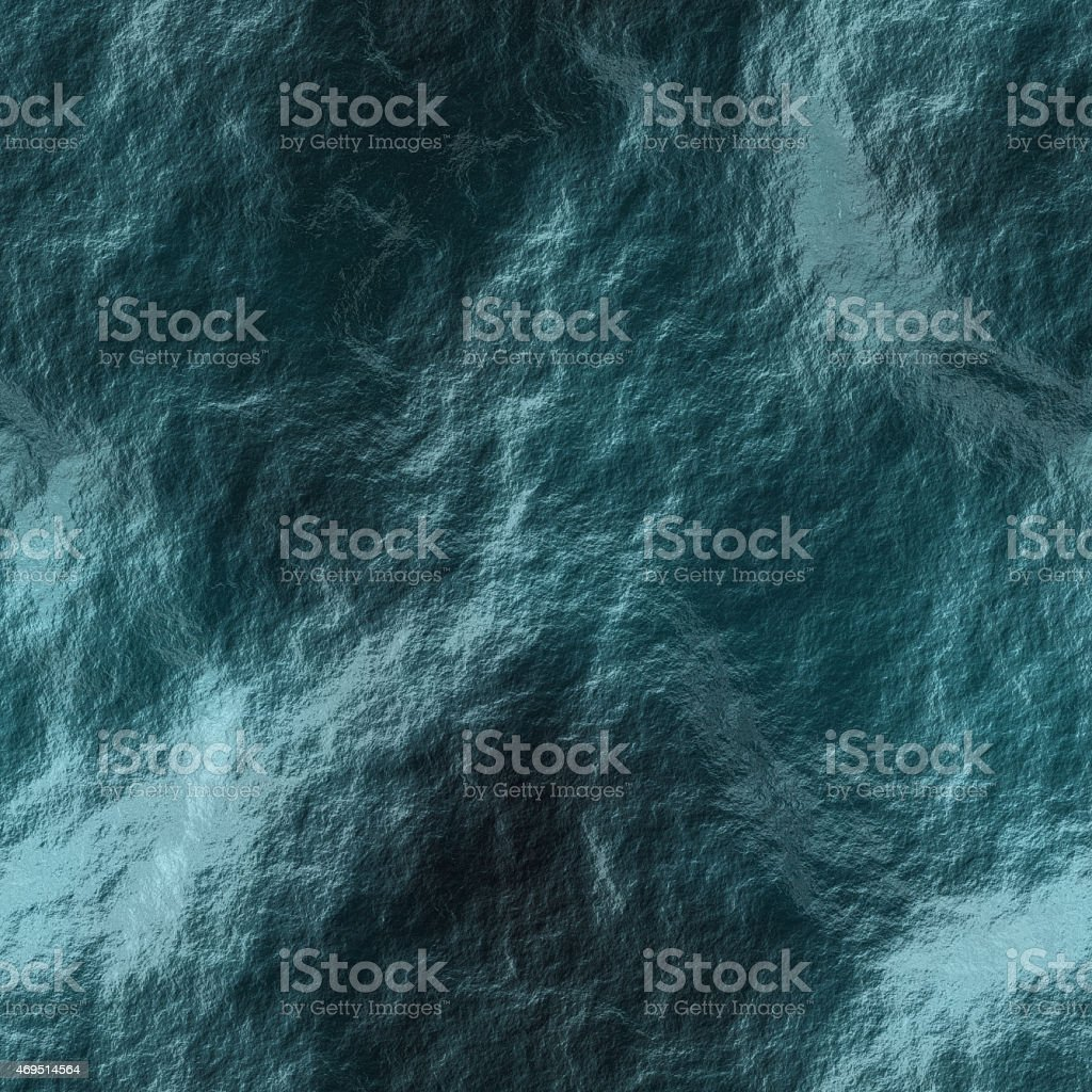 Dark blue sea water during storm stock photo