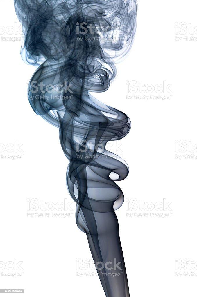 Dark blue smoke on white royalty-free stock photo