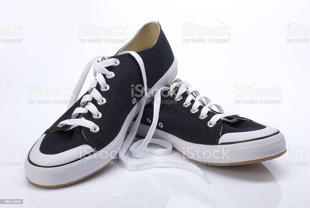 Dark blue sneakers royalty-free stock photo