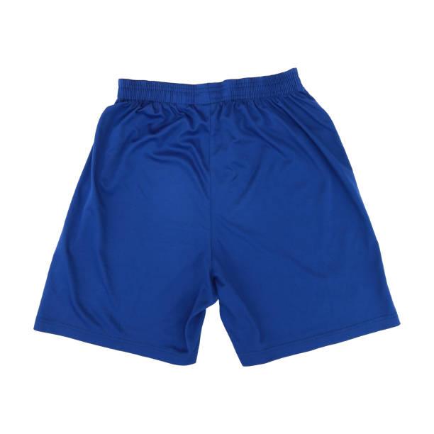 pantalons de sport bleu foncé isolés sur blanc - homme slip photos et images de collection