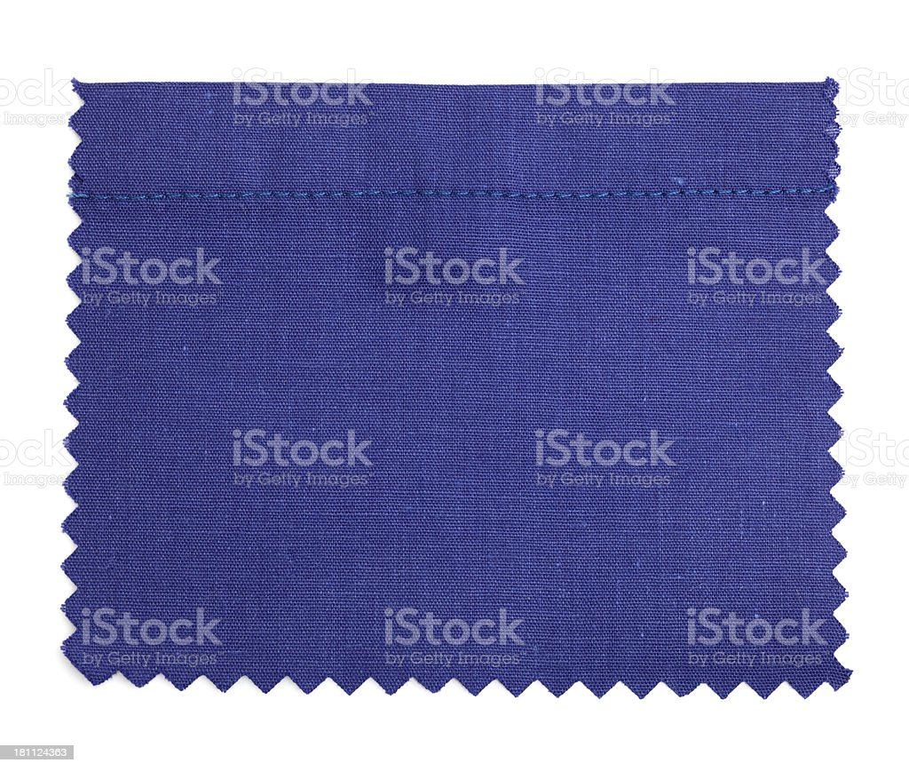 Dark Blue Stitched Fabric Swatch royalty-free stock photo