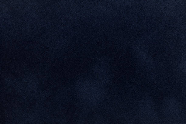 Dark blue suede fabric closeup. Velvet texture. - foto stock