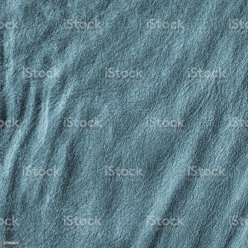 Dark Blue Veal Leather Crumpled Wizened Grunge Texture Sample royalty-free stock photo