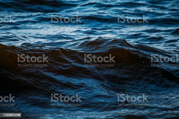 Photo of Dark blue waves in the water