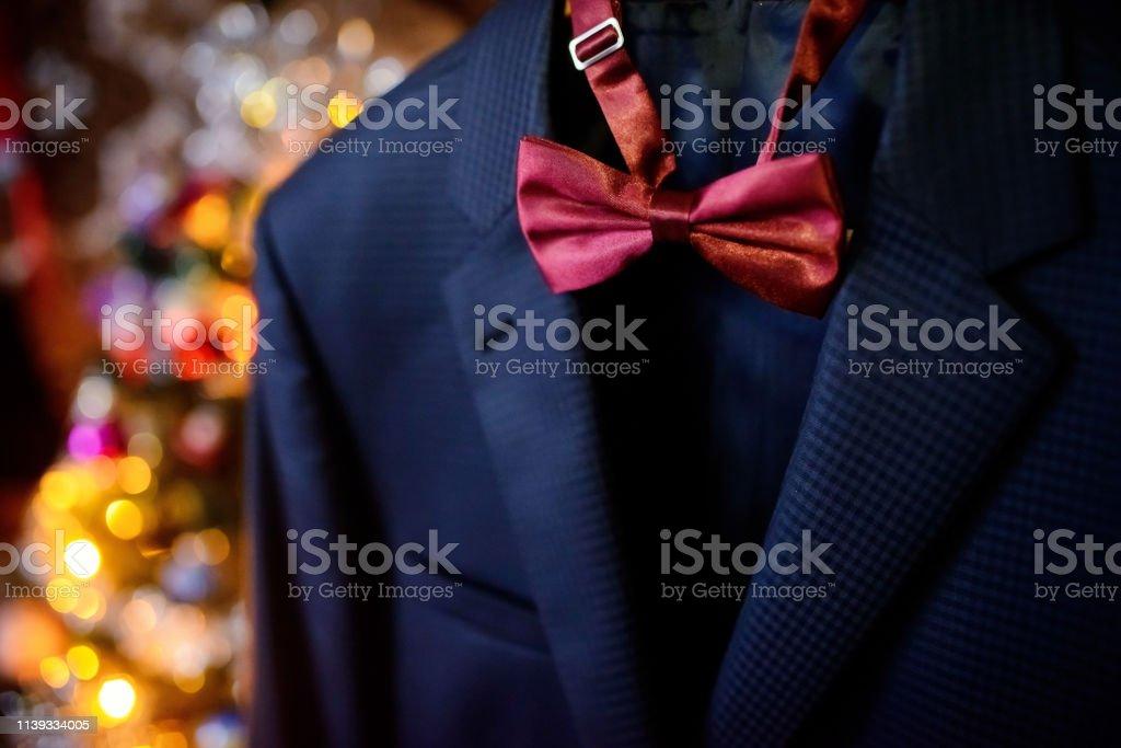 Pajarita azul oscuro para traje hombre adulto elegante bow tie lazo