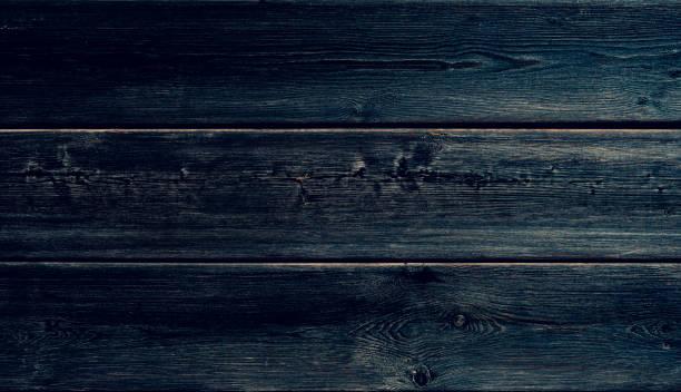 Fondo de madera azul oscuro - foto de stock