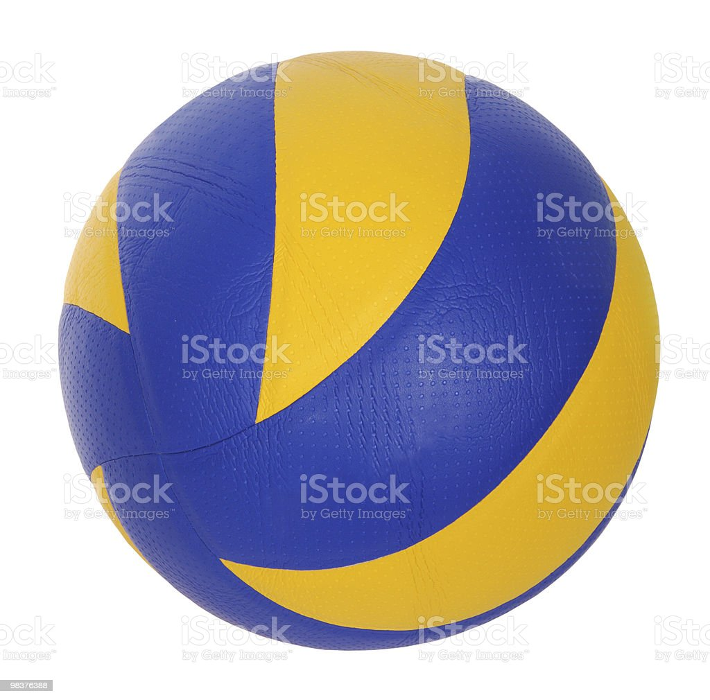 dark blue, yellow Volley-ball ball royalty-free stock photo