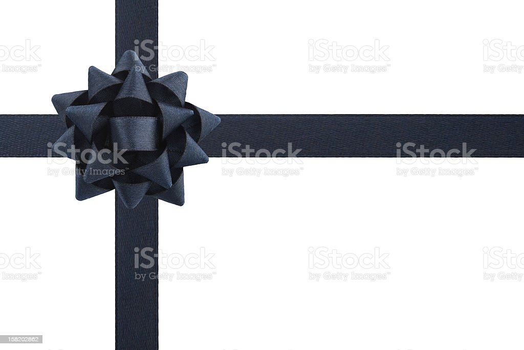 Dark bow and ribbons stock photo