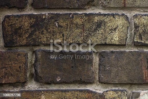 istock Dark brick background texture. 1066257736
