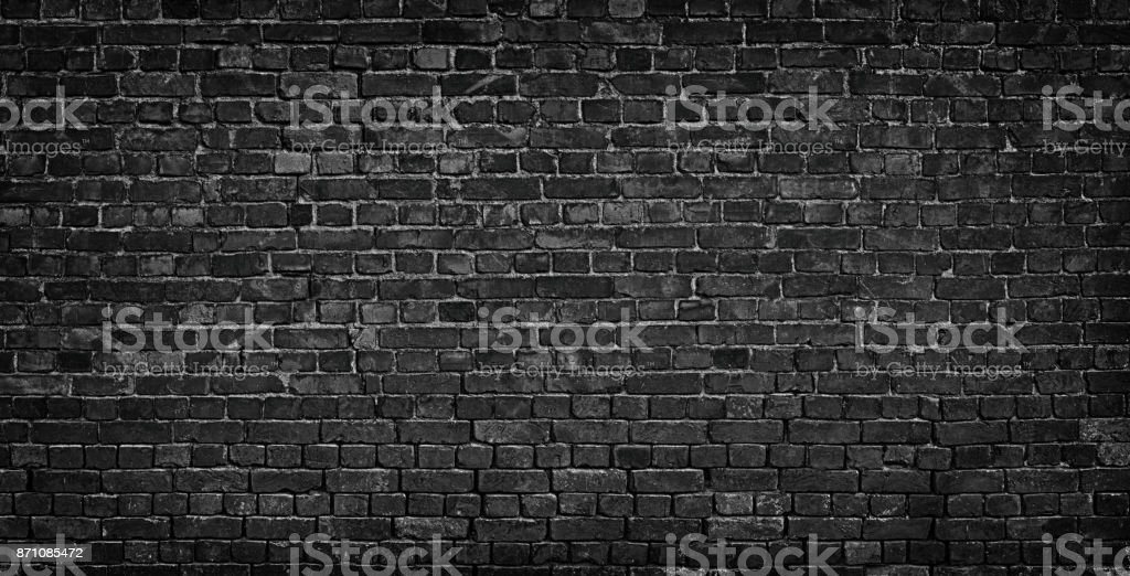 dark brick wall as a backdrop. brickwork design element stock photo