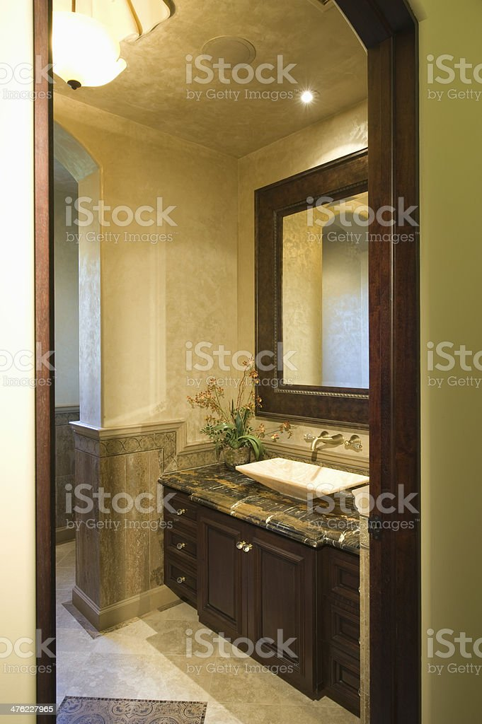 Dark Brown Bathroom Unit Stock Photo Download Image Now Istock