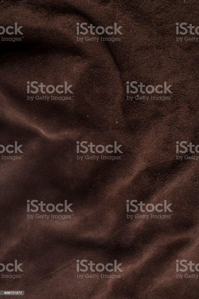 Dark brown chamois texture for interior designers. stock photo