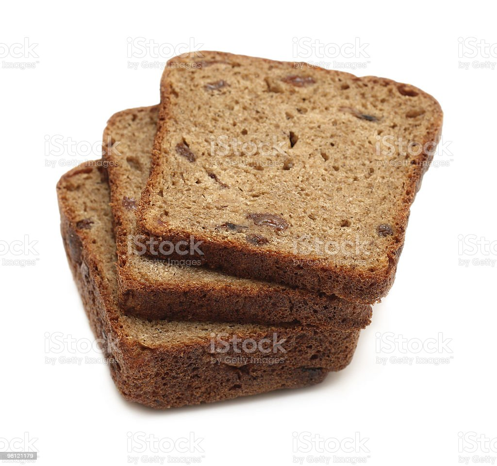 dark brown rye sliced bread royalty-free stock photo