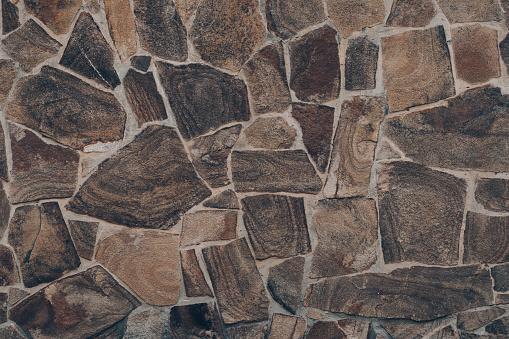 Dark Brown Stone Wall Texture Abstract Dark Brown Rock Wall