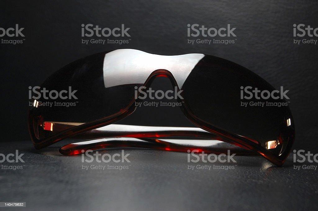 Dark Brown Sunglasses stock photo